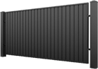 Fence of corrugated board